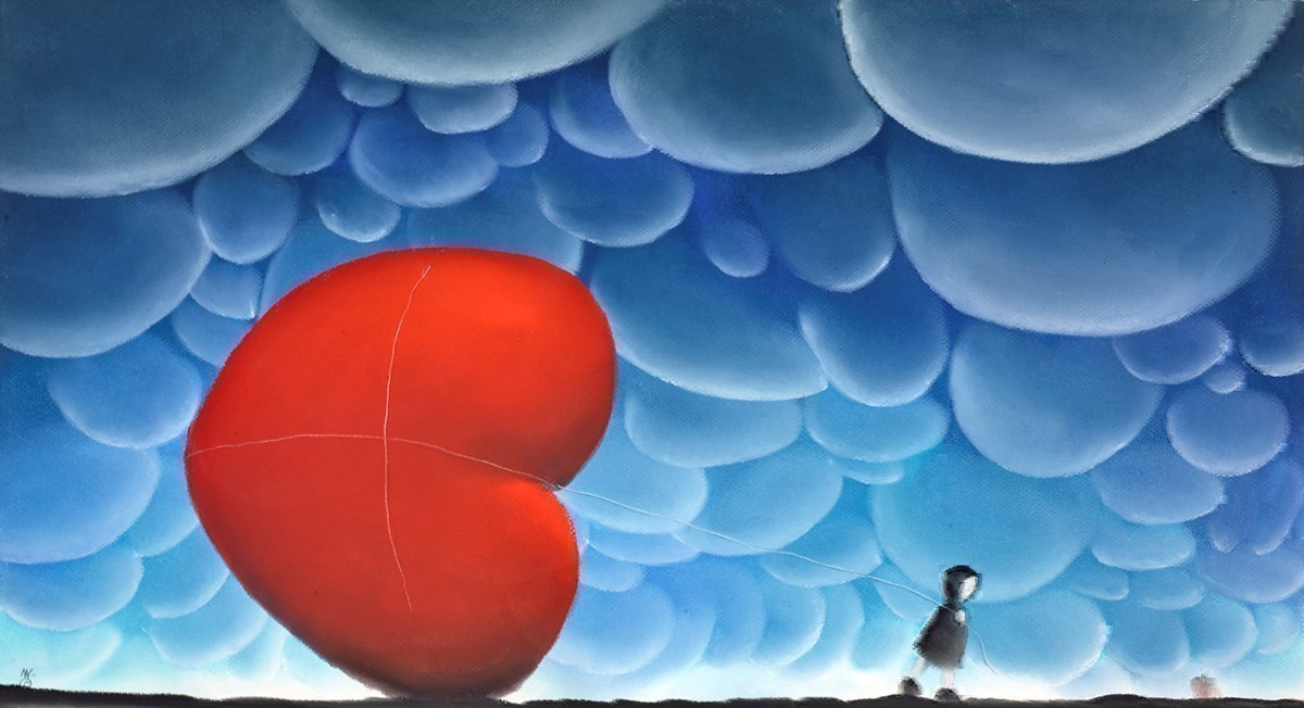 All the Way Home by Mackenzie Thorpe -  sized 28x15 inches. Available from Whitewall Galleries